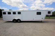 #40991 - Used 2002 Kiefer Built 7410LQ 4 Horse Trailer  with 10' Short Wall
