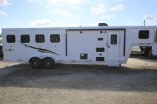 #06672 - New 2017 Bison Trail Boss 7408SO 4 Horse Trailer  with 8' Short Wall