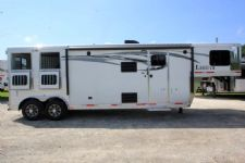 #00637 - New 2017 Lakota 8211LQ Charger 2 Horse Trailer  with 11' Short Wall