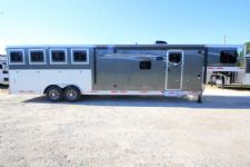 #00659 - New 2017 Lakota Charger 8413RKGLQ 4 Horse Trailer  with 13' Short Wall