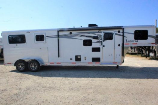 #00692 - New 2017 Lakota 7209GLQ Charger 2 Horse Trailer  with 9' Short Wall