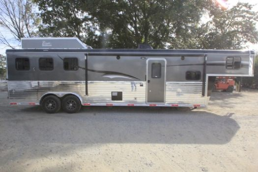 #06734 - New 2017 Bison Ranger 8313SO 3 Horse Trailer  with 13' Short Wall