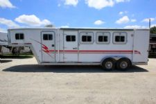 #08270 - Used 2000 Exiss  3 Horse Trailer  with 4' Short Wall