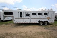 #A7016 - Used 1999 Sundowner 4HSL 4 Horse Trailer  with 6' Short Wall