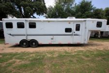 #09374 - Used 2007 Bison 8310LQ Trail Express 3 Horse Trailer  with 10' Short Wall