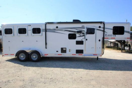 #00698 - New 2017 Lakota Charger 7309LQ 3 Horse Trailer  with 9' Short Wall