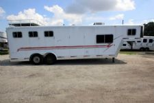 #05597 - Used 2001 Exiss 8310LQ 3 Horse Trailer  with 10' Short Wall
