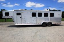 #42139 - Used 2002 Kiefer Built 7480LQ 3 Horse Trailer  with 8' Short Wall