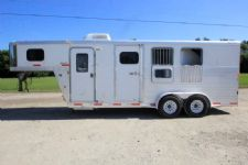 #39299 - Used 2007 Exiss ES305LQ 3 Horse Trailer  with 5' Short Wall