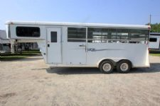 #77478 - Used 2012 Bee 3HGN 3 Horse Trailer  with 4' Short Wall