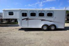 #20075 - Used 1997 Southern 3HSLGN 3 Horse Trailer  with 4' Short Wall