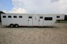 #33816 - Used 2000 Featherlite 8410MTLQ 4 Horse Trailer  with 10' Short Wall