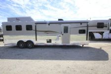 #06748 - New 2017 Bison Bison Ranger 8313SO 3 Horse Trailer  with 13' Short Wall