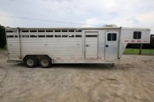 #51634 - Used 2002 Featherlite 20' Stock Trailer  with 4' Short Wall