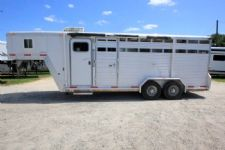 #41128 - Used 2008 Exiss 7304 LQ 3 Horse Trailer  with 4' Short Wall