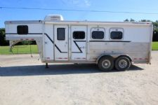 #04170 - Used 2002 Cherokee 7306LQ 3 Horse Trailer  with 6' Short Wall