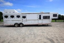 #A1849 - Used 2004 Sundowner 8412LQ 4 Horse Trailer  with 12' Short Wall
