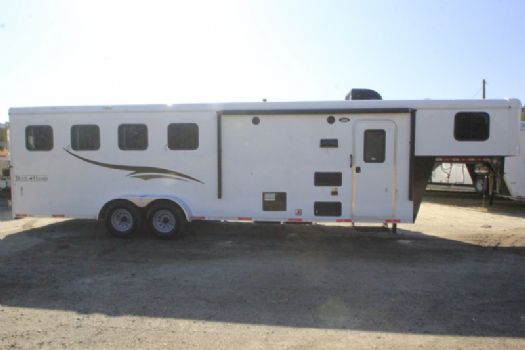 #06766 - New 2017 Bison Trail Hand 7408LQ 4 Horse Trailer  with 8' Short Wall