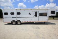 #A2181 - Used 2005 Sundowner 8312LQ 3 Horse Trailer  with 12' Short Wall