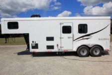#06775 - New 2017 Bison Dixie Renegade 7206 2 Horse Trailer  with 6' Short Wall