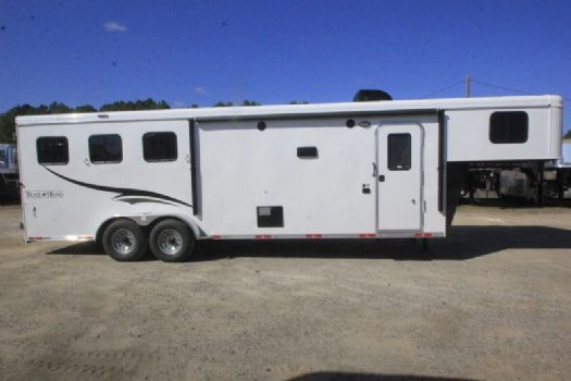 #06777 - New 2017 Bison Trail Hand 7310LQ 3 Horse Trailer  with 10' Short Wall