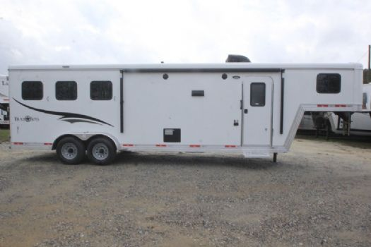 #06779 - New 2017 Bison Trail Boss 7310 3 Horse Trailer  with 10' Short Wall