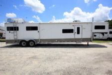 #73831 - Used 2007 Shadow 7414LQ 4 Horse Trailer  with 14' Short Wall