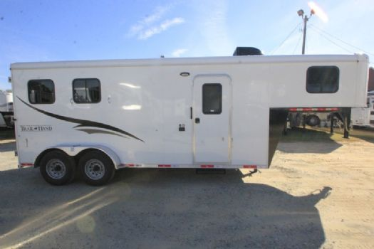 #06823 - New 2017 Bison 7206LQ Dixie Renegade 2 Horse Trailer  with 6' Short Wall