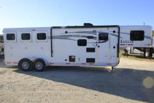 #00888 - New 2017 Lakota Charger 7309LQ 3 Horse Trailer  with 9' Short Wall