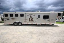 #09666 - Used 2008 Bison 8414GLQSD 4 Horse Trailer  with 14' Short Wall