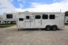 #01132 - Used 2003 Adam 7308LQ 3 Horse Trailer  with 8' Short Wall