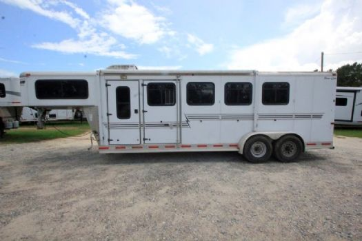 #02652 - Used 2004 Silver Star Star Lite 4 Horse Trailer  with 4' Short Wall