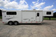 #73023 - Used 2014 Shadow 7308LQ 3 Horse Trailer  with 8' Short Wall