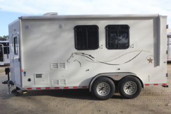 #00353 - New 2017 Harmar Dixie Star 502DSBP 2 Horse Trailer  with 5' Short Wall