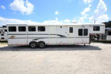 #33483 - Used 1999 Merhow 8412LQMT 4 Horse Trailer  with 12' Short Wall