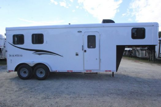 #06880 - New 2017 Bison 7206LQ Dixie Renegade 2 Horse Trailer  with 6' Short Wall
