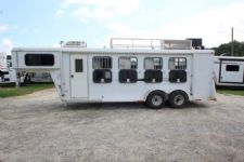 #77492 - Used 2007 Bee K&K 4 Horse Trailer  with 4' Short Wall