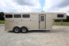 #00078 - Used 2004 Big Valley Contender 3 Horse Trailer  with 4' Short Wall