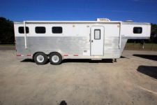 #38045 - Used 2006 Exiss 307LQ 3 Horse Trailer  with 7' Short Wall