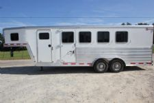 #61187 - Used 2015 Kiefer Built 4HSL 4 Horse Trailer  with 4' Short Wall