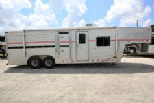 #11321 - Used 1997 4 Star 8008 Stock LQ Stock Trailer  with 9' Short Wall