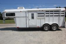 #28457 - Used 1997 World 2HSTGN 2 Horse Trailer  with 8' Short Wall