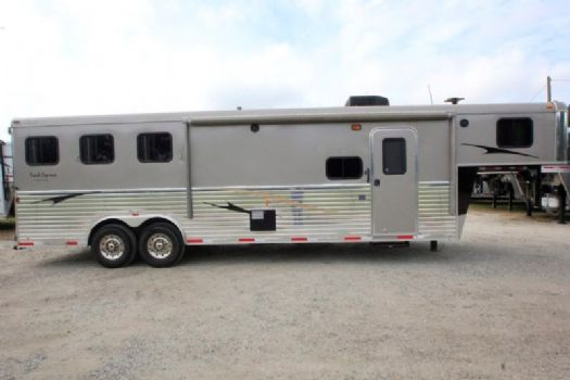 #02135 - Used 2012 Bison 8310LQ 3 Horse Trailer  with 10' Short Wall