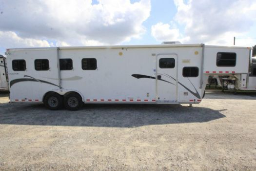 #50336 - Used 2006 Kiefer Built 8410LQ 4 Horse Trailer  with 10' Short Wall