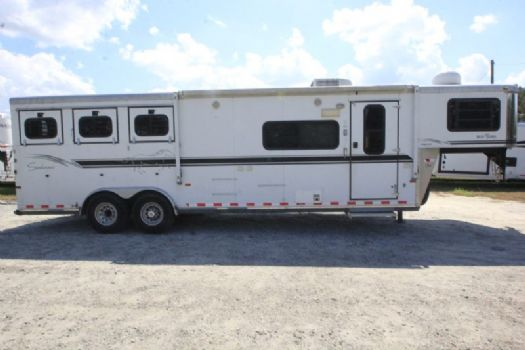 #A1468 - Used 2004 Sundowner  3 Horse Trailer  with 10' Short Wall
