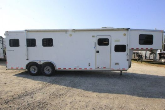 #49768 - Used 2006 Kiefer Built Evolution 3 Horse Trailer  with 9' Short Wall