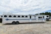 #A1359 - Used 1999 Sundowner 8614LQ 6 Horse Trailer  with 14' Short Wall