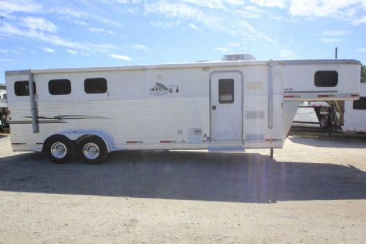 #29094 - Used 2004 Exiss 7310GLQ 3 Horse Trailer  with 10' Short Wall