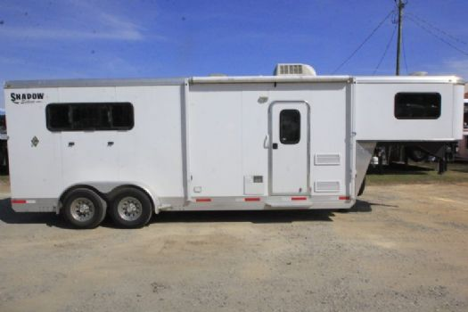 #73973 - Used 2014 Shadow 307LQ 3 Horse Trailer  with 7' Short Wall