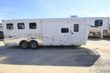 #02724 - Used 2013 Bison 8308GLQ 3 Horse Trailer  with 8' Short Wall